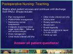 postoperative nursing teaching
