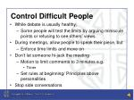 control difficult people