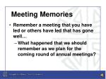meeting memories