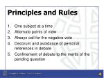 principles and rules