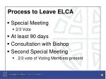 process to leave elca