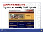 www swmnelca org sign up for weekly email update
