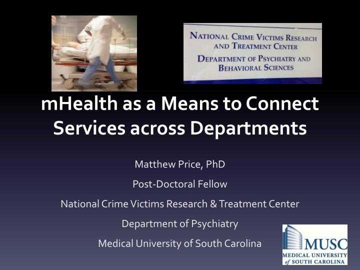 mhealth as a means to connect services across departments n.