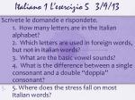 italiano 1 l esercizio 5 3 9 13