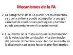 mecanismos de la fa