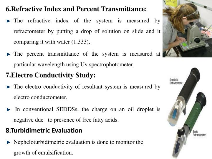 6.Refractive Index and Percent Transmittance