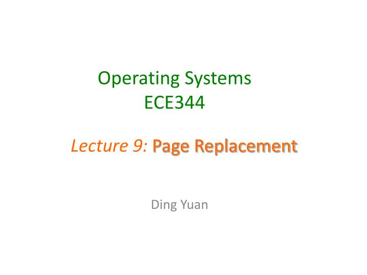 operating systems ece344 n.