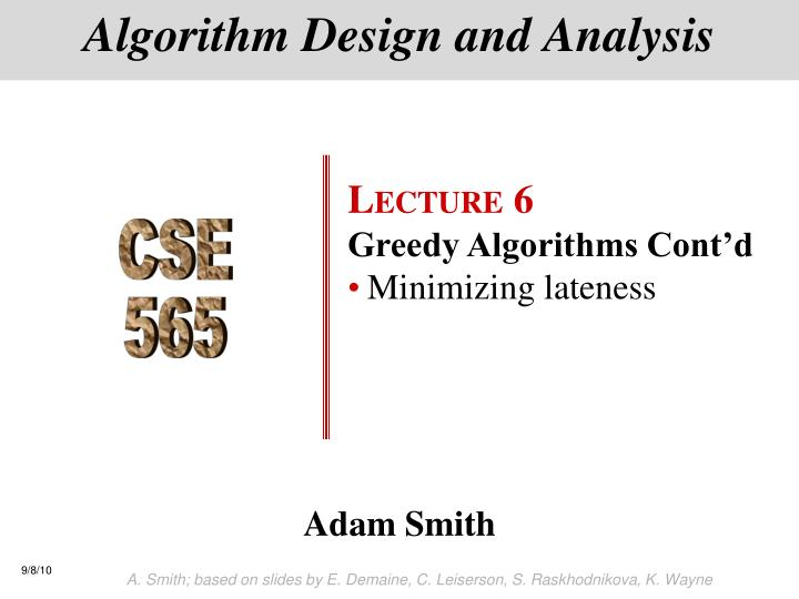 algorithm design and analysis n.