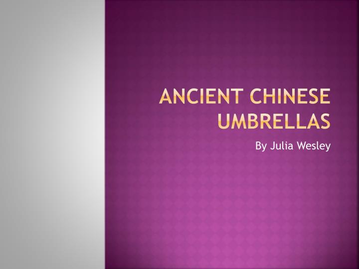ancient chinese umbrellas n.