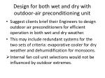 design for both wet and dry with outdoor air preconditioning unit