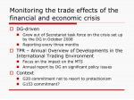 monitoring the trade effects of the financial and economic crisis