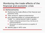 monitoring the trade effects of the financial and economic crisis2