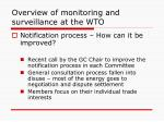 overview of monitoring and surveillance at the wto3