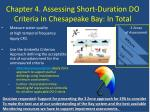 chapter 4 assessing short duration do criteria in chesapeake bay in total