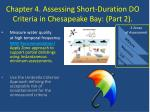 chapter 4 assessing short duration do criteria in chesapeake bay part 2