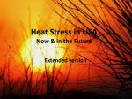 heat stress in usa now in the future