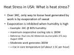 heat stress in usa what is heat stress
