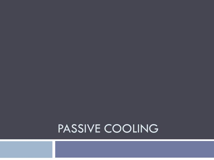 passive cooling n.