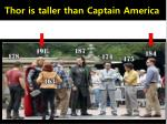 thor is taller than captain america