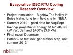 evaporative idec rtu cooling research overview