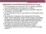 emergency evacuation procedure bomb threat2