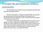principio de participaci n activa y consciente