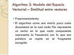 algoritmo 3 modelo del espacio vectorial similitud entre vectores1
