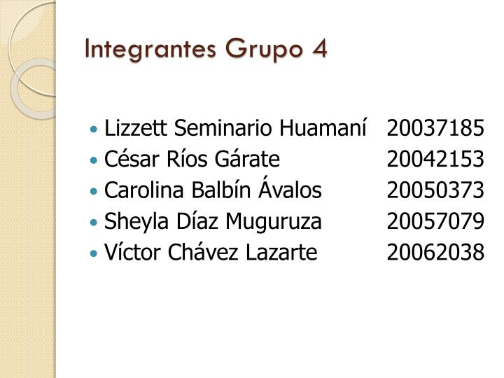 Integrantes grupo 4