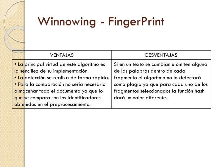 Winnowing - FingerPrint