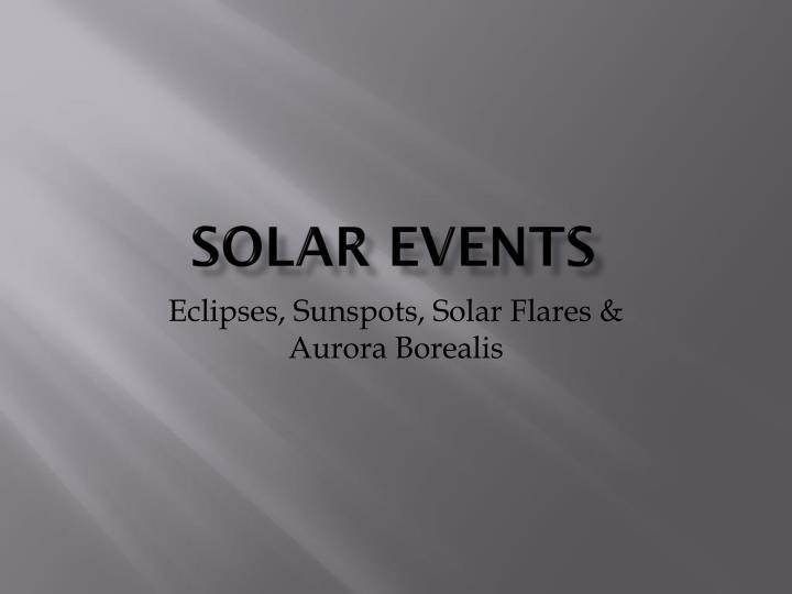 solar events n.