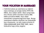 your vocation in marriage