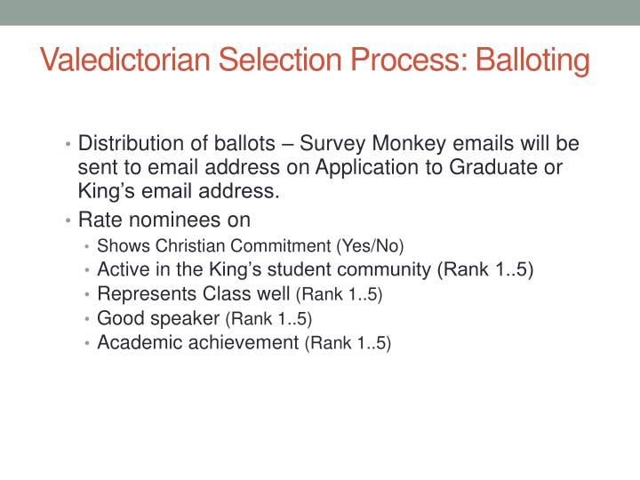 Valedictorian Selection