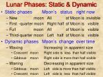 lunar phases static dynamic
