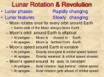 lunar rotation revolution