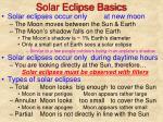 solar eclipse basics