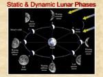 static dynamic lunar phases