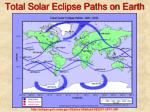total solar eclipse paths on earth