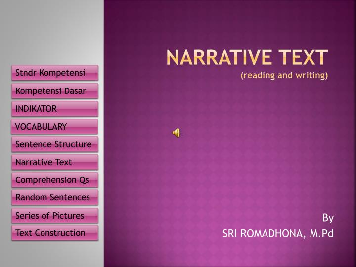 narrative text reading and writing n.