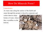 how do minerals form