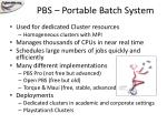 pbs portable batch system