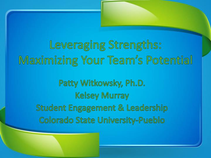 leveraging strengths maximizing your team s potential n.