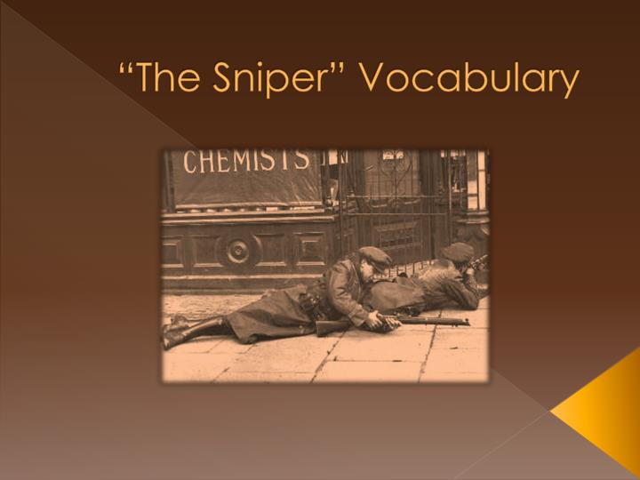 the sniper vocabulary n.