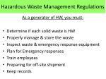 hazardous waste management regulations