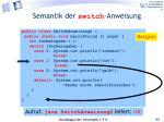 semantik der switch anweisung2