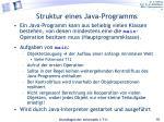 struktur eines java programms
