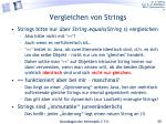 vergleichen von strings