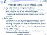 wichtige methoden der klasse string2