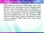 upah minimum provinsi ump