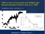 cemp no stars are associated with unique light element abundance patterns aoki et al 2002