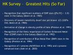 hk survey greatest hits so far